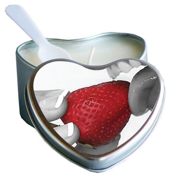earthly body edible strawberry candles box