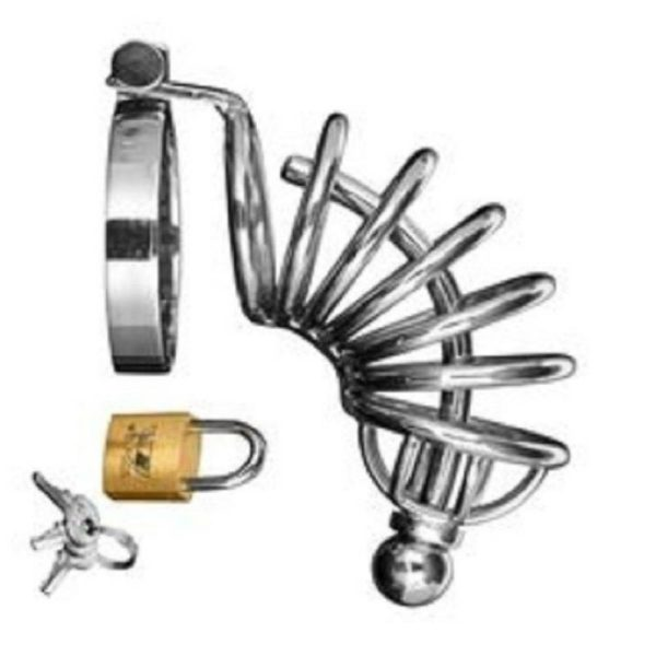 master series 4 ring chastity cage with urethal