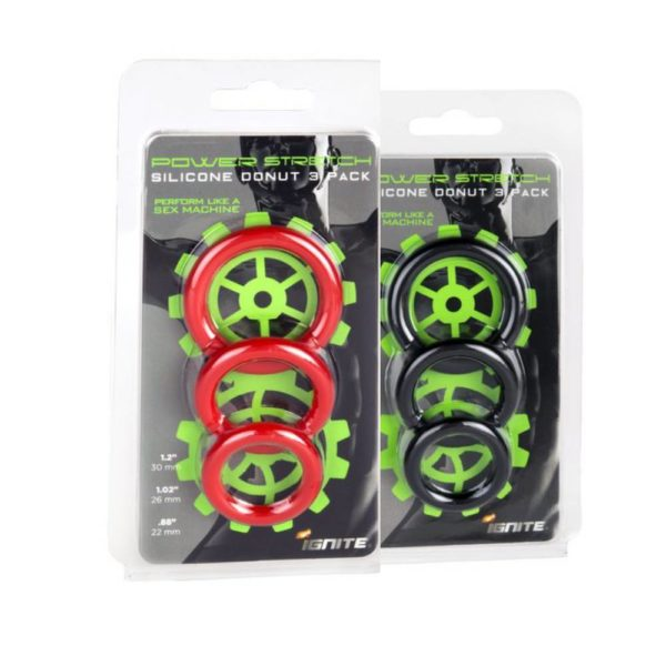 silicone stretchy rings 3 pack