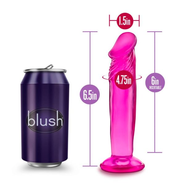 """B Yours Sweet N' Small 6"""" Dildo with Suction Cup"""
